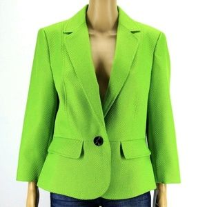 New Black Label by Evan Picone Womens Blazer Green